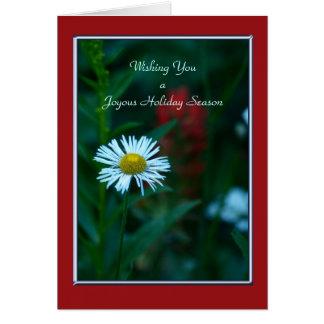 Vacaciones felices, margarita blanca tarjeta de felicitación