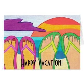 ¡Vacaciones felices! Felicitacion