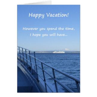 ¡Vacaciones felices! Tarjeta De Felicitación