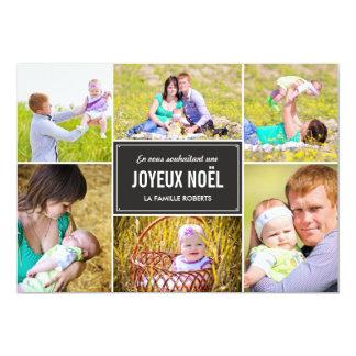 Vacances de style de cartes de photo del collage invitación 12,7 x 17,8 cm