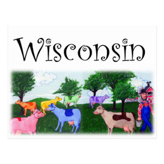Vacas bonitas de Wisconsin Postal