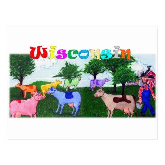 Vacas del bonito de Wisconsin Postal