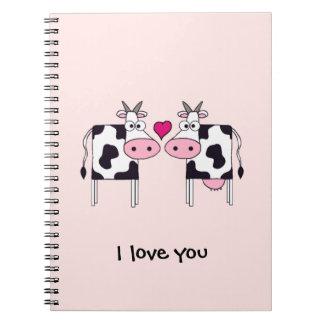Vacas en amor libros de apuntes