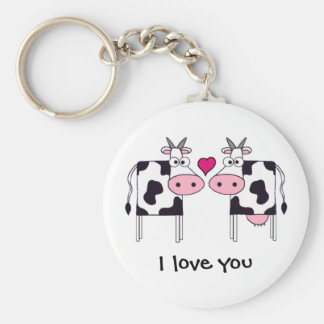 Vacas en amor llavero