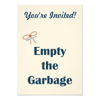Vacie los recordatorios de la basura invitaciones personalizada
