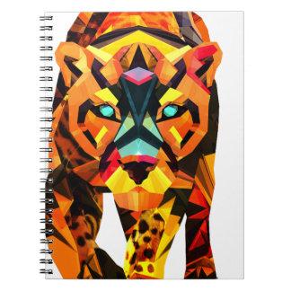 Vagabundeo geométrico del tigre cuaderno