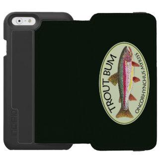 Vago chistoso de la pesca de la trucha funda cartera para iPhone 6 watson