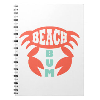 Vago de la playa cuaderno