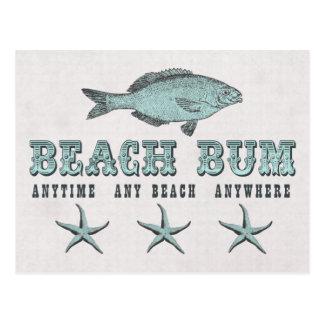 Vago de la playa de los pescados y de las postal