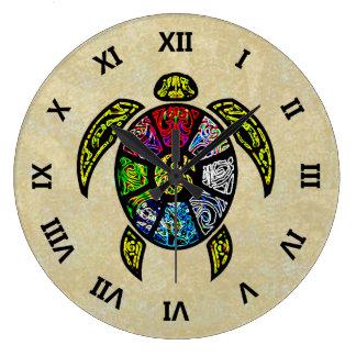 Vagos-Gua de la tortuga Reloj Redondo Grande