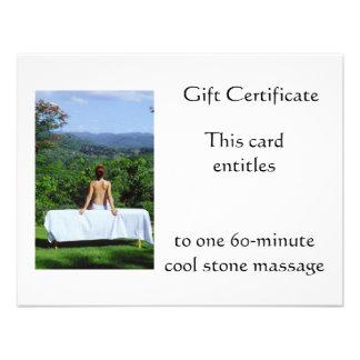Vale al aire libre del masaje comunicados personalizados