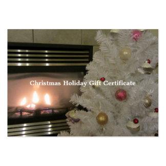 Vale de la chimenea y del árbol de navidad tarjetas de negocios