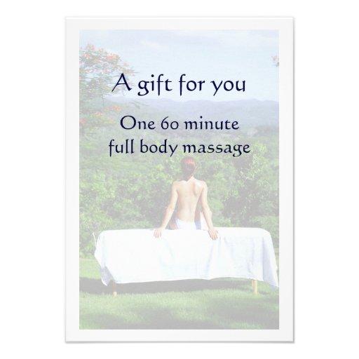 Vale del masaje comunicados personalizados