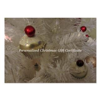 Vale en blanco del árbol de navidad tarjetas de negocios