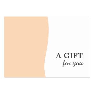 Vale en colores pastel elegante mínimo de la tarjetas de visita grandes