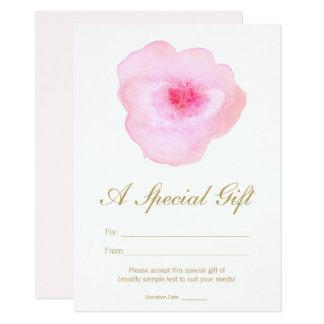 Vale floral del salón del balneario de la acuarela invitación 11,4 x 15,8 cm