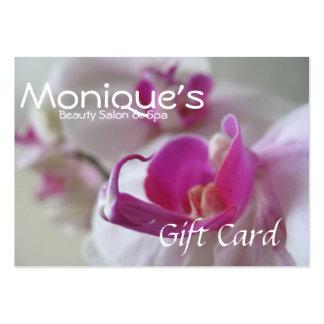 Vale rosado del balneario del salón de las orquíde plantillas de tarjetas personales