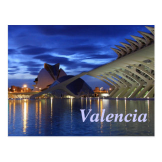 Valencia por noche postal