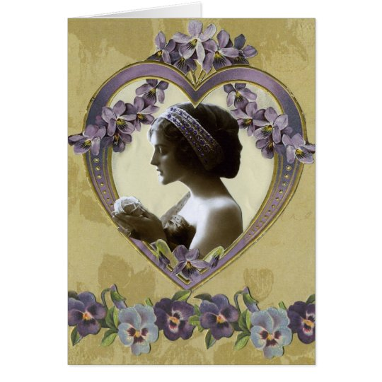 Valentine de señora Violet's Tarjeta De Felicitación