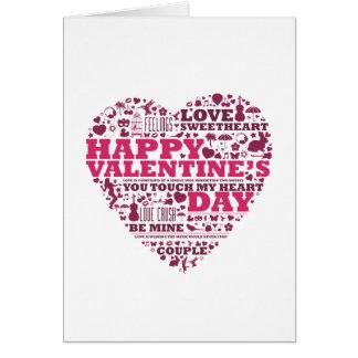 Valentine s day heart tarjeta