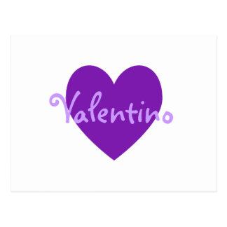 Valentino en púrpura postal