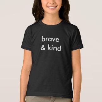 Valiente y clase embroma la camiseta negra
