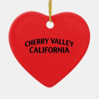 Valle California de la cereza Adornos De Navidad