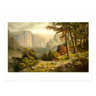 Valle California de Yosemite del rastro de Postal
