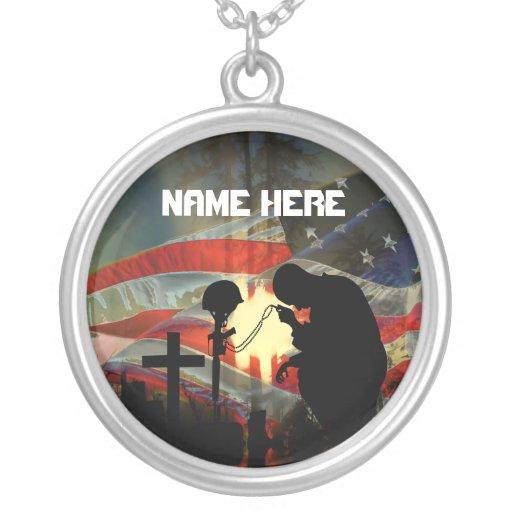 Valle conmemorativo del veterano de la conmemoraci collar personalizado