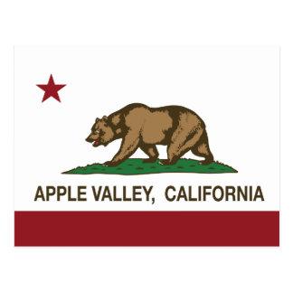 Valle de Apple de la bandera del estado de Califor Postales