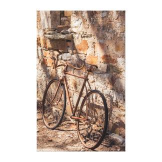 Valle de Australia, Clare, Sevenhill, bicicleta Impresión En Lona Estirada