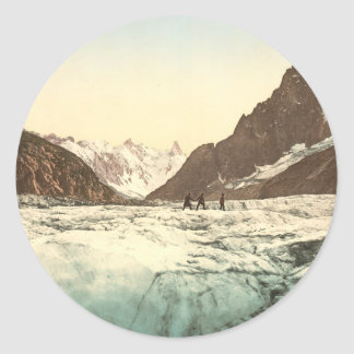 Valle de Chamonix - Mer de Glace Pegatina Redonda