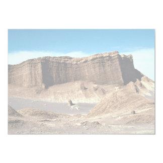 Valle de la luna, desierto de Atacama, desierto de Invitación 12,7 X 17,8 Cm