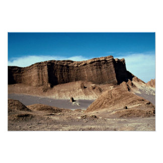 Valle de la luna, desierto de Atacama, desierto de Póster