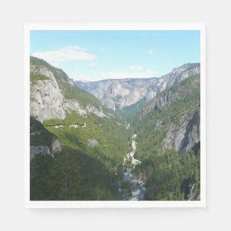 Valle de Yosemite en el parque nacional de Servilletas Desechables