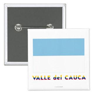 Valle del Cauca Flag con nombre Pin