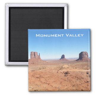 Valle del monumento imán cuadrado