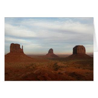 Valle del monumento tarjeta de felicitación