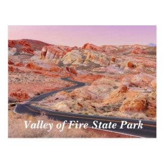 Valle del parque de estado del fuego, postal de