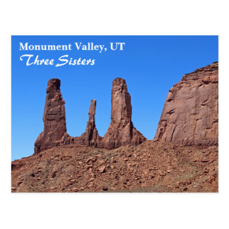 ¡Valle hermoso del monumento, postal de tres