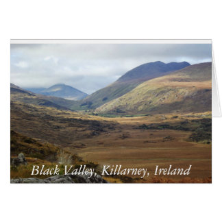 Valle negro, Killarney, Irlanda Photocard Tarjeta De Felicitación