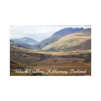 Valle negro Killarney, Kerry, Irlanda Impresión En Lienzo