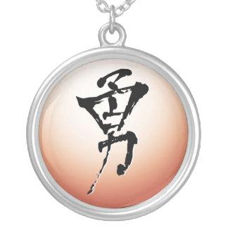 Valor, collar del pictograma del kanji