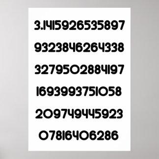 Valor del π del constante matemático de la empanad posters
