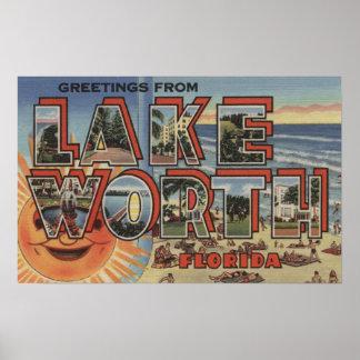 Valor del lago, la Florida - escenas grandes de la Impresiones