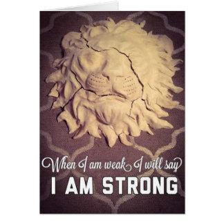 Valor del león tarjeta de felicitación