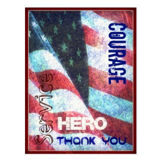 Valor-Héroe-Agradézcale postal del día de Postal