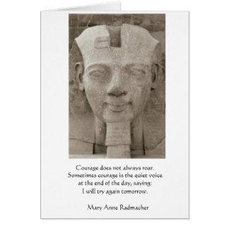 Valor - rey egipcio tarjeta de felicitación
