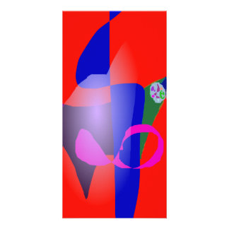 Valor rojo tarjetas fotograficas personalizadas