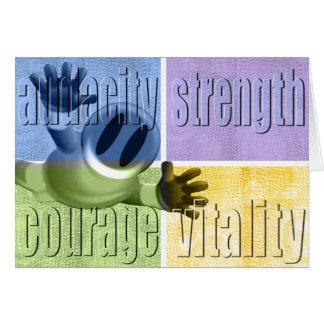 Valor y vitalidad Notecard de la fuerza de la Tarjeta Pequeña